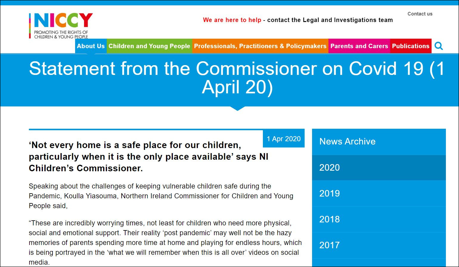 Image of Statement from the Commissioner on Covid 19 (1 April 20)