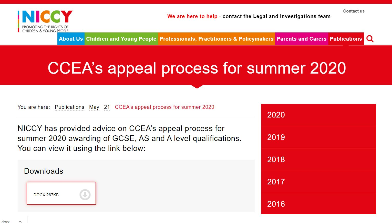 Image of CCEA's appeal process for summer 2020