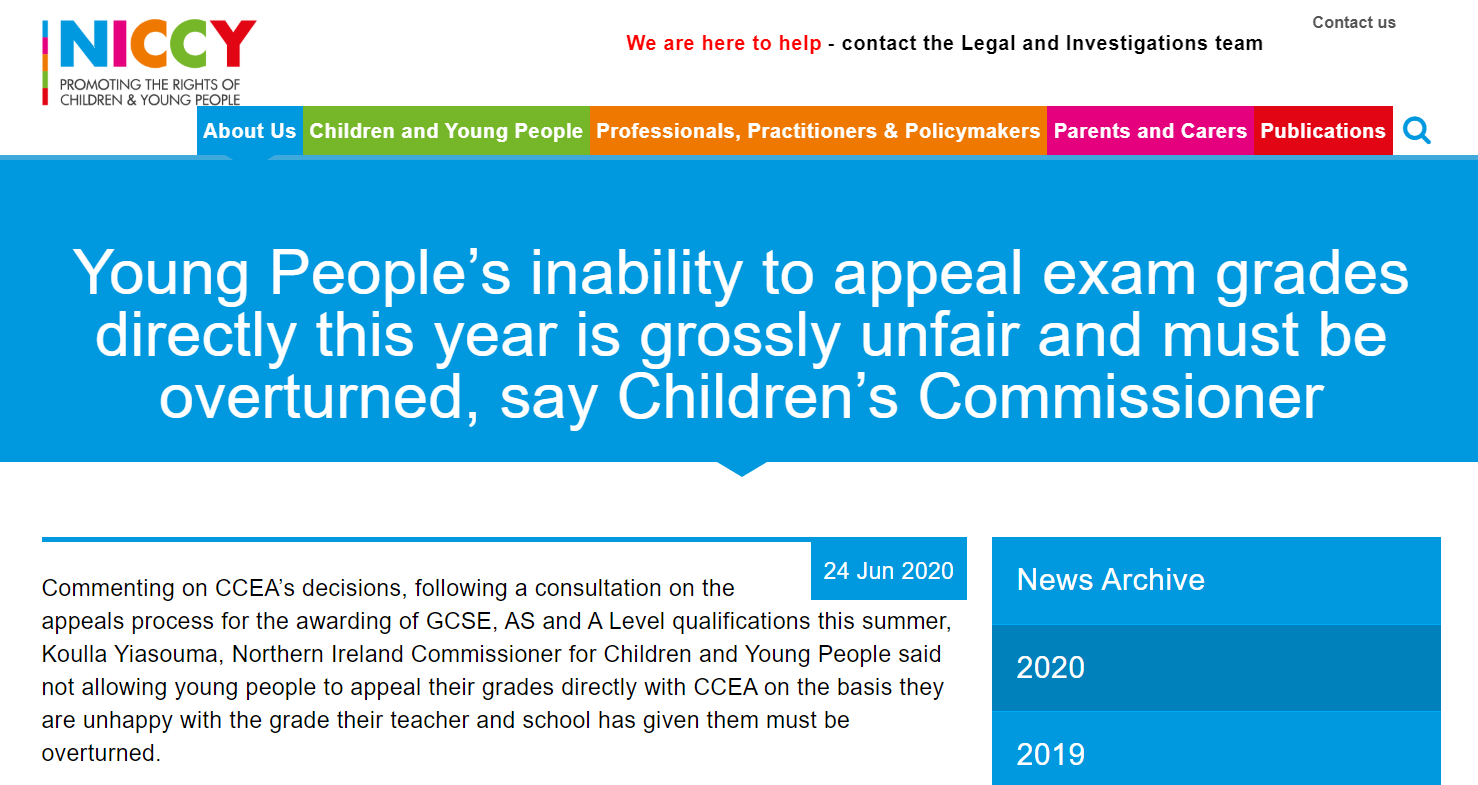 Image of Young People's inability to appeal exam grades directly this year is grossly unfair and must be overturned, say Children's Commissioner