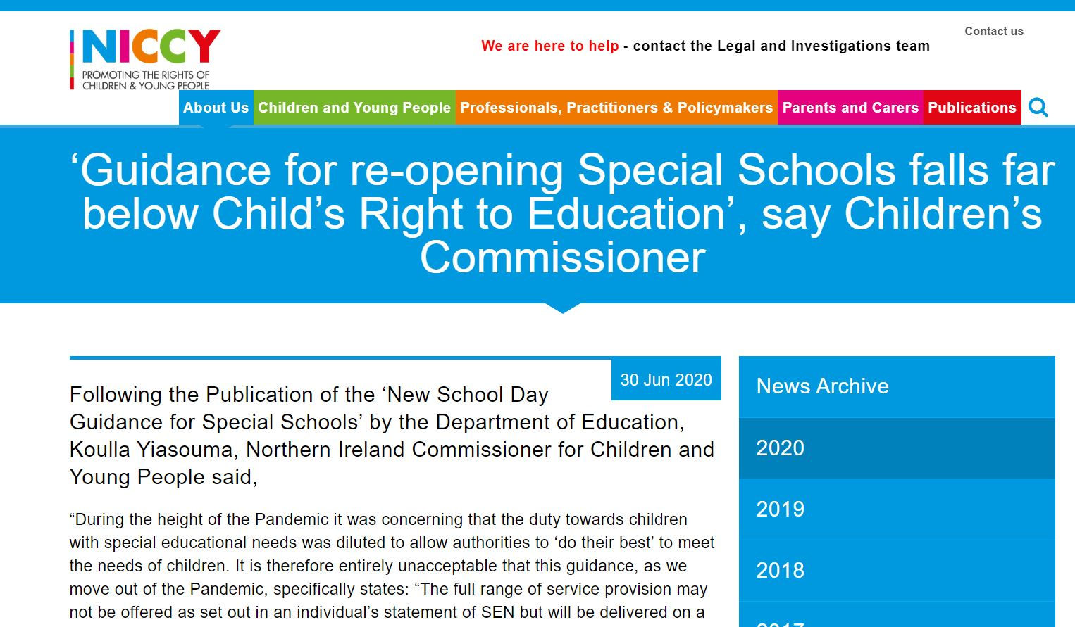 Image of 'Guidance for re-opening Special Schools falls far below Child's Right to Education', say Children's Commissioner