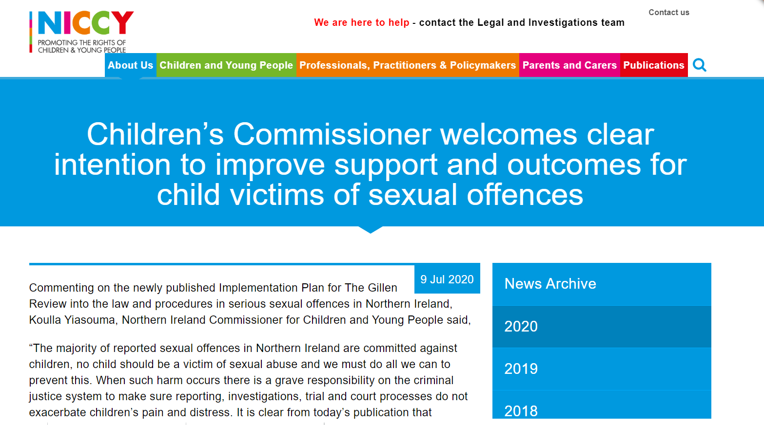 Image of Children's Commissioner welcomes clear intention to improve support and outcomes for child victims of sexual offences