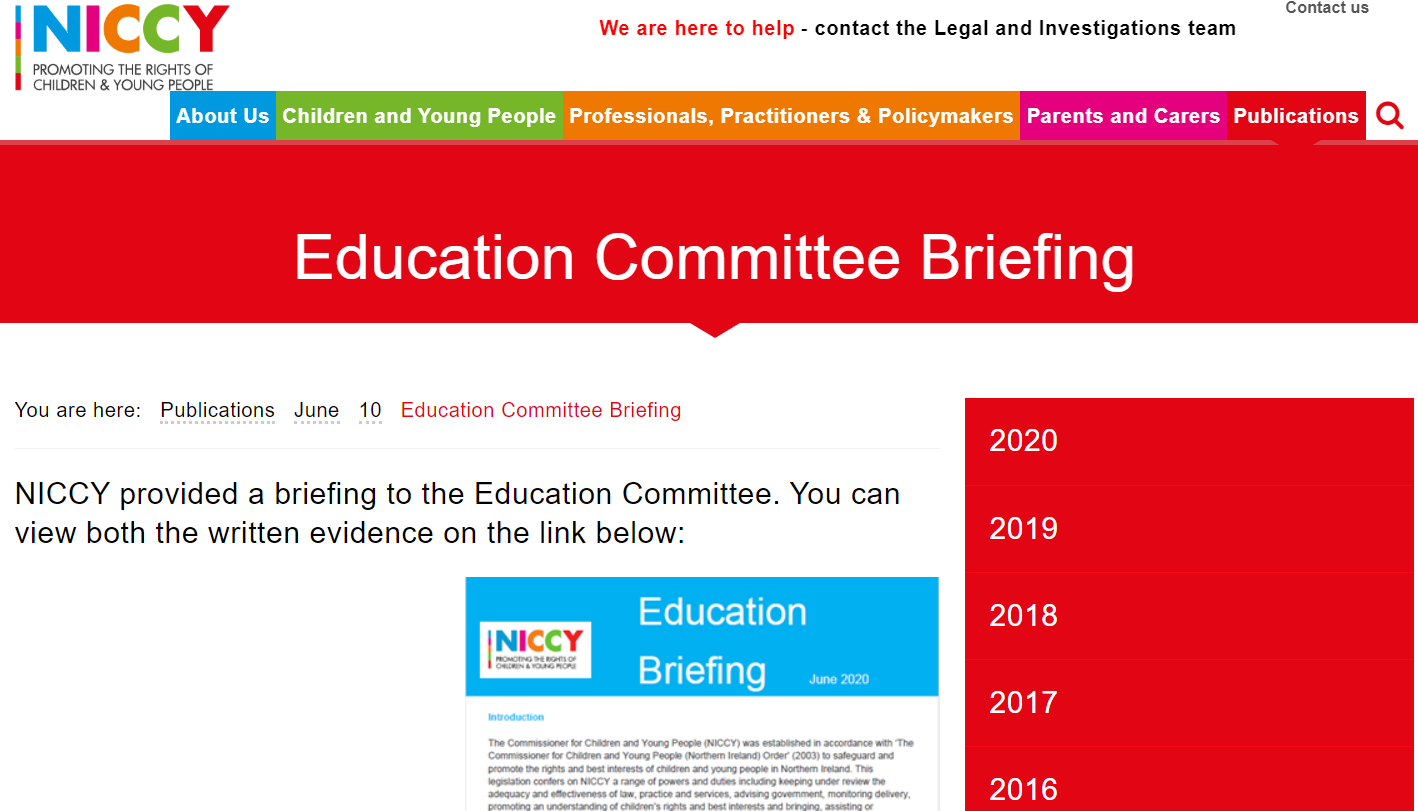 Image of Education Committee Briefing