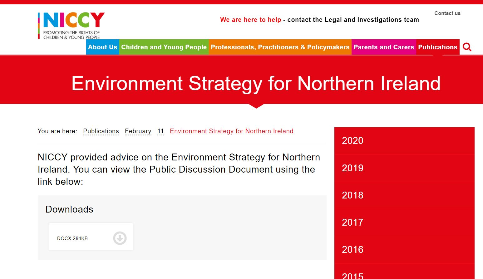 Image of Environment Strategy for Northern Ireland