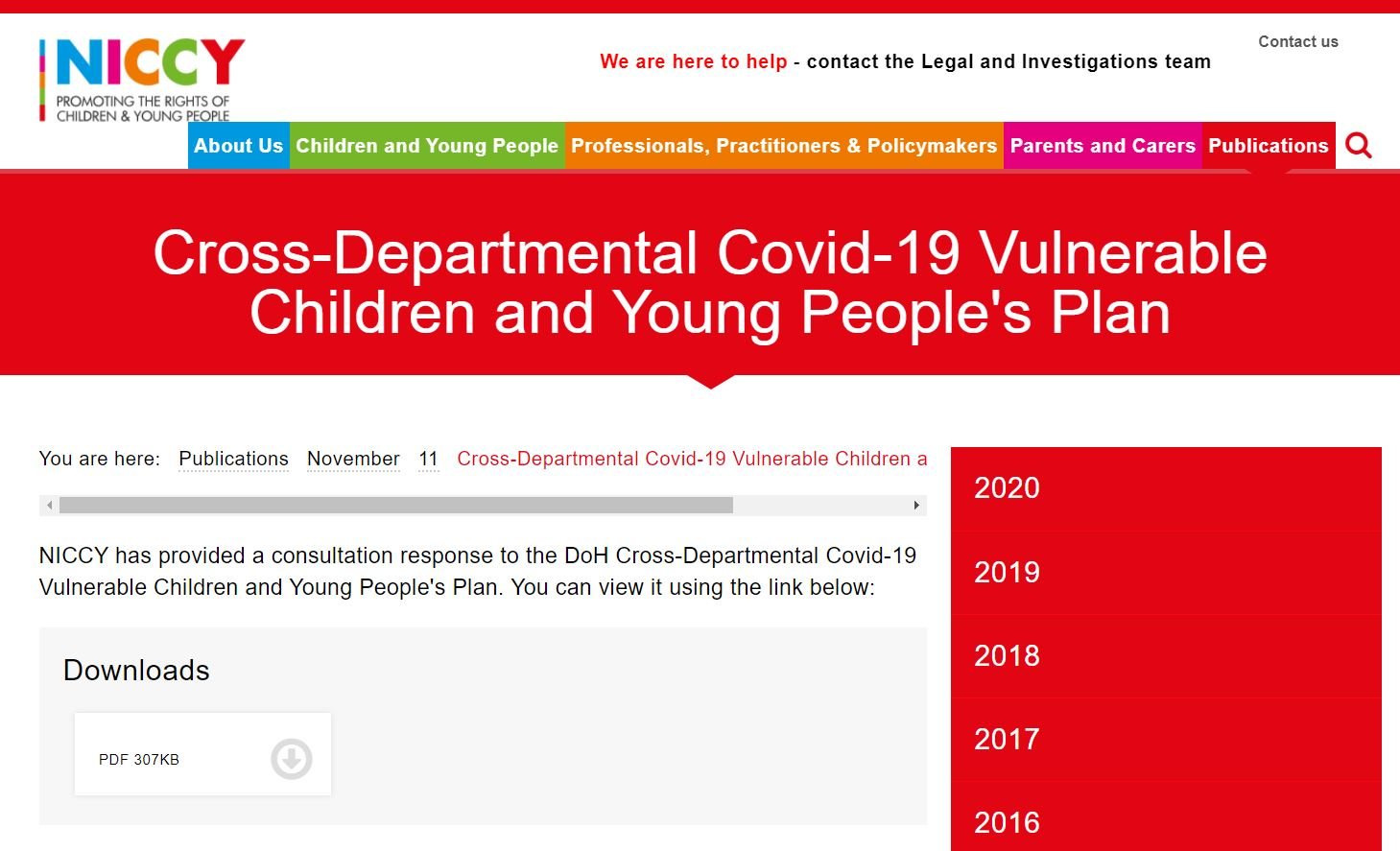 Image of Cross-Departmental Covid-19 Vulnerable Children and Young People's Plan