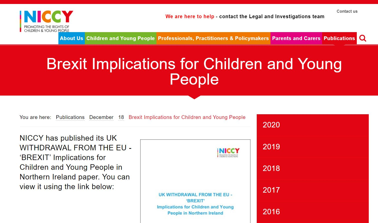 Image of Brexit Implications for Children and Young People