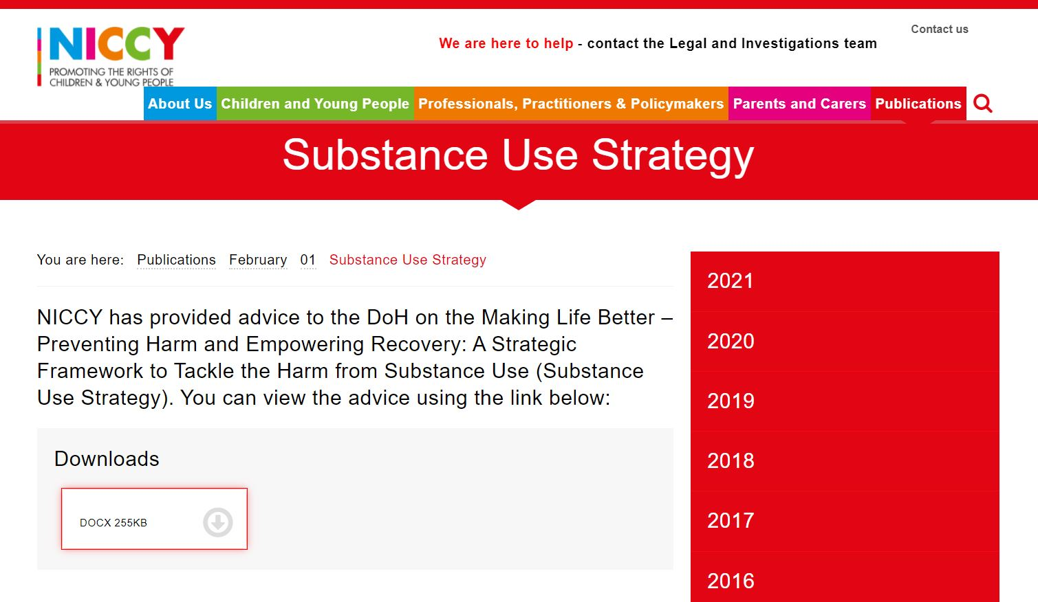 Image of Substance Use Strategy