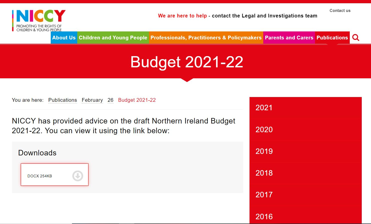 Image of Budget 2021-22