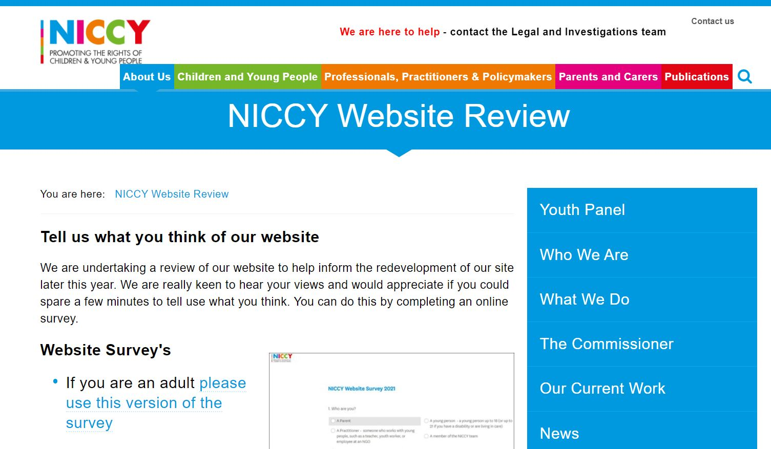 Photo for NICCY Website Review