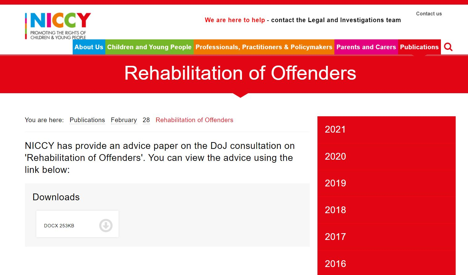 Image of Rehabilitation of Offenders