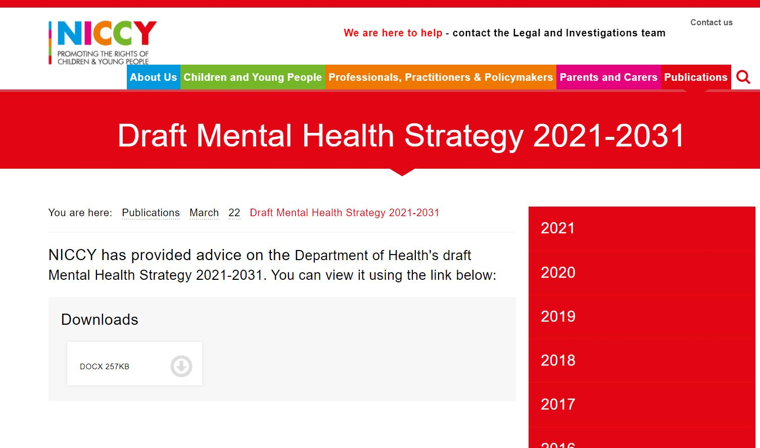 Image of Draft Mental Health Strategy 2021-2031